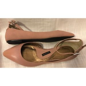 Anthropologie Pied Juste Blush D'Orsay Flats